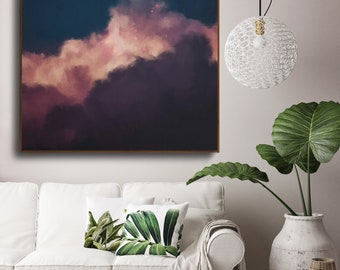 Cloud Painting, Extra Large Wall Art, Abstract Art, Large Abstract Painting, Cloud Art by CORINNE MELANIE ART - Ready to Hang