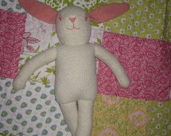 Plush Felted Bunny PDF KNITTING PATTERN, stuffed animal
