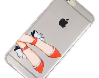 Last One, 2 Piece Case, Red Shoes, Shopping, Transparent Clear Phone Case fits iPhone 6 or iPhone 6s Only, Last 2 Piece Case