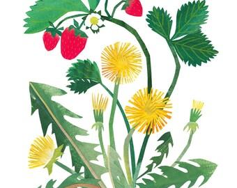 Spring Garden - Giclee Print of an Original Collage