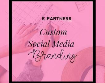 Custom Facebook Cover, Twitter Banner and Instagram Avatar | Social Media Branding