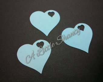 Teal Heart Tag (set of 20 tags)