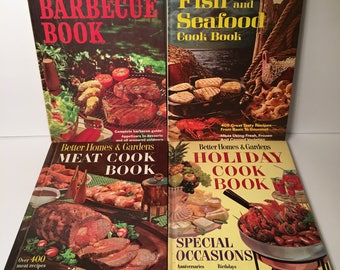 Set of 4 Better Homes and Gardens Cookbooks