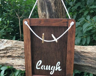 Laugh Memo Board, Photo Board, Message Board, Note Board, Memory Board, Wood Sign