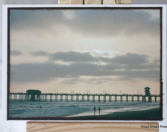 ACEO, ATC, Artist Trading Card, Huntington Beach, Sunset, photography
