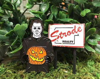 Myers Pumpkin Enamel Pin
