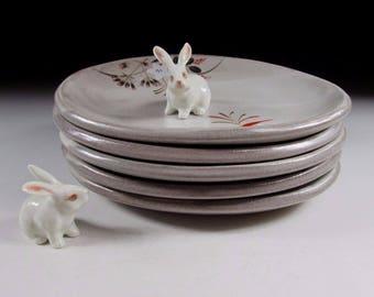Set of Five Tachikichi Plates, Koedo