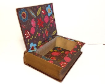 Hollow Book Safe Eliot's Works Poems Spanish Gypsy Cloth Bound vintage Secret Compartment Security hiding place