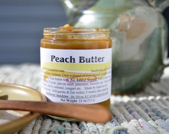 Peach Butter no sugar added