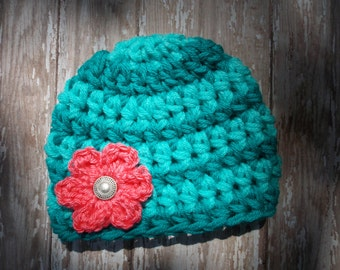 Chunky baby hat - photo prop - baby girl hat - baby shower gift -  made to order