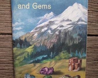 1965 ROCKS, MINERALS And GEMS National Audubon Society Vintage Book