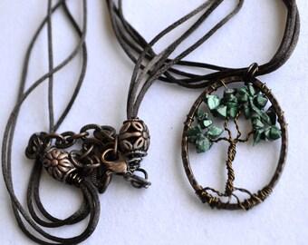 Malachite Tree of Life Necklace