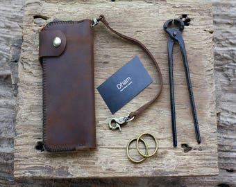 Wallet, Long Wallet, Biker Chain Wallet, Leather Biker Chain Wallet,Full Sized Biker Chain Wallet,  Leather Biker Wallet, Distressed Leather