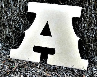 Unfinished Wooden Alphabet Letter, Wood Letter, Wall Decor, Saddlebag