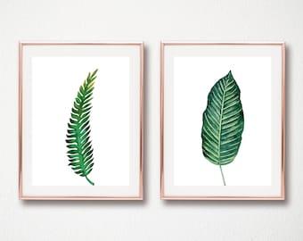set of 2 leaf