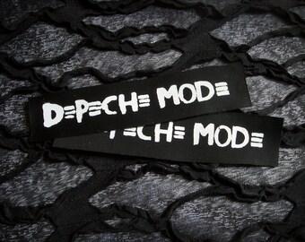 Depeche Mode Goth Punk Patch - Black, White (bauhaus, bowie, the cure)