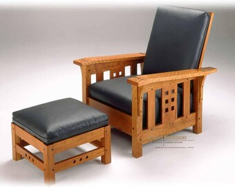 """Mission """"Morris"""" chair  - custom fit & finish ( Ottoman also available). Starting at 1200Can"""