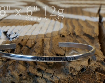 "Cuff Bracelet Blank - 1/8"" x 6"" - 12g Aluminum"