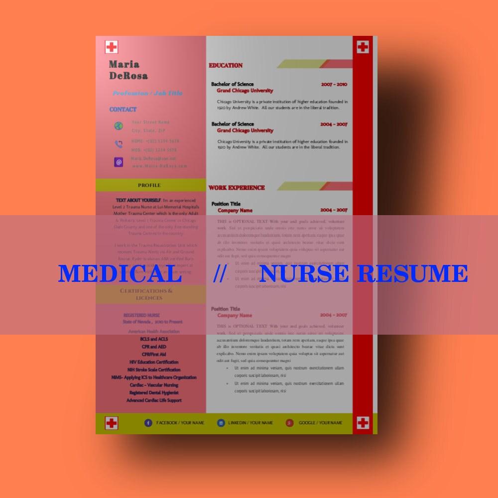 Plantilla de curriculum de enfermera médica reanudar