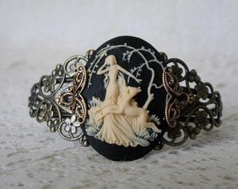Goddess Diana Cuff Bracelet, wiccan jewelry pagan jewelry wicca jewelry goddess jewelry witch witchcraft magic metaphysical pagan bracelet