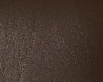 "Brown Faux Leather Upholstery Vinyl 54"" wide By The Yard"