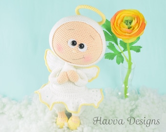 Crochet Pattern - Bonnie Angel Costume (Amigurumi Doll Pattern)