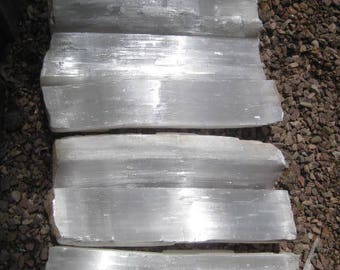 Large Selenite logs - FREE SHIPPING - 6 crystal Logs - all included