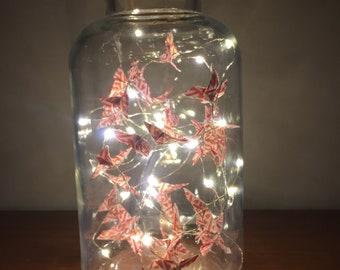 Origami butterfly Twinkle jar