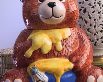Vintage Bear with Honey Jar