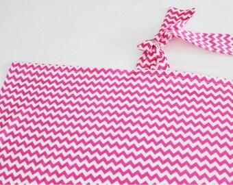 Hot Pink Chevron Nursing Cover