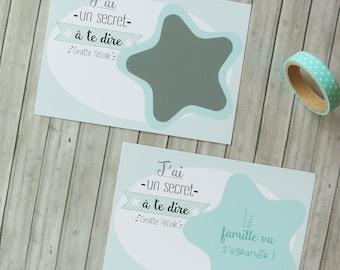 Star pregnancy announcement card