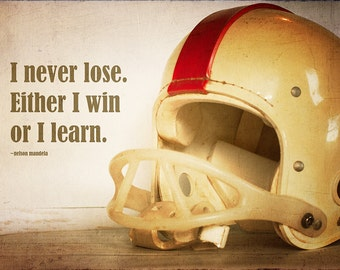 Motivational Football Helmet Fine Art Photograph Home Decor