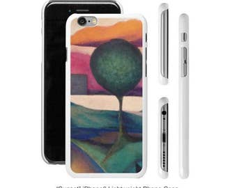 "Art Phone Cases - iPhone cases ""Sunset"" abstract park with citiscape background"
