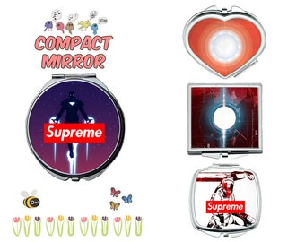 Avengers Ironman compact mirror, makeup mirror, cosmetic mirror, portable mirror, double sided compact makeup mirror, purse mirror