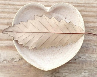 white ceramic heart bowl  - 3  inches