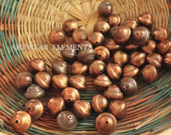 Vintage Copper Beads, 20mm, Sold Per 2, Aged Copper Beads, Old Stock, Limited Old Stock Beads, Vintage Beads, Copper Beads, ArtWear Elements