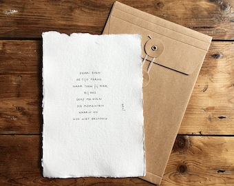 With us | Poem on cotton paper