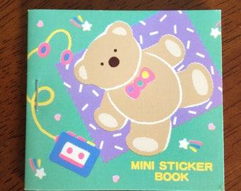 Vintage Sanrio Tweedle Dee Dee Bear Mini Sticker Book