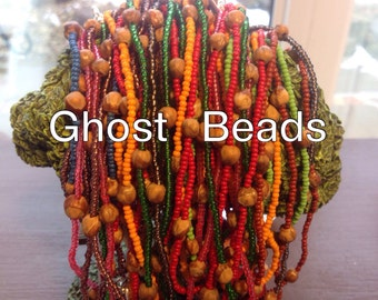 Ghost Bead Necklace - Juniper berry & seed beads protects against bad dreams great for children with nightmares