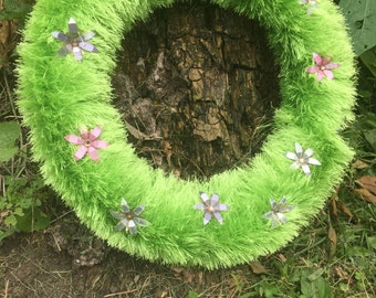 Whimsical Flower Wreath