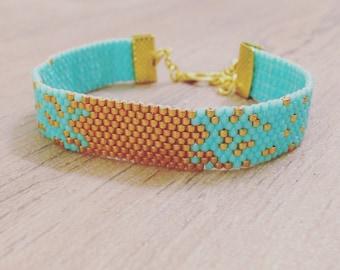 Handmade BRACELET MIYUKI Beads, Galaxy Bracelets many colors, Boho Jewelry, Glam Miyuki Bracelet, Gold and colorfull Bracelets Handmade