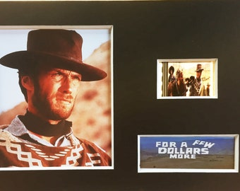 For a Few Dollars More Clint Eastwood Lee Van Cleef Unframed 35mm Film Cells Version 3 New
