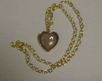Pink Stone Heart Necklace