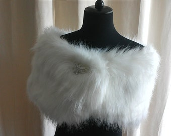 Super Luxurious Faux Fur Shawl, Wrap, Stole, Cover up