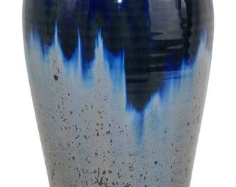 Ephraim Faience Pottery 1998 Large Crystal Flambe Vase 832