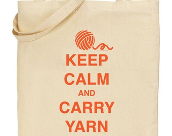 Keep Calm and Carry Yarn - Orange - INSTANT DOWNLOAD - Digital Download JPG