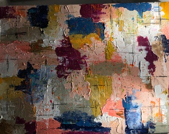 SOLD•  Abstract art created with acrylics and sculpting knife