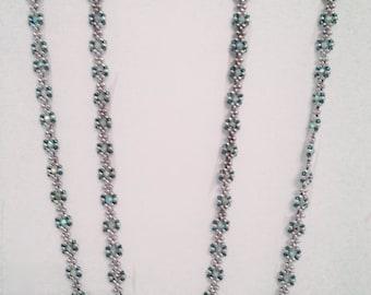Ribbon Swarovski Crystal Necklace