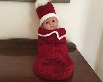 Crochet Cuddle Sack or Cocoon Bag
