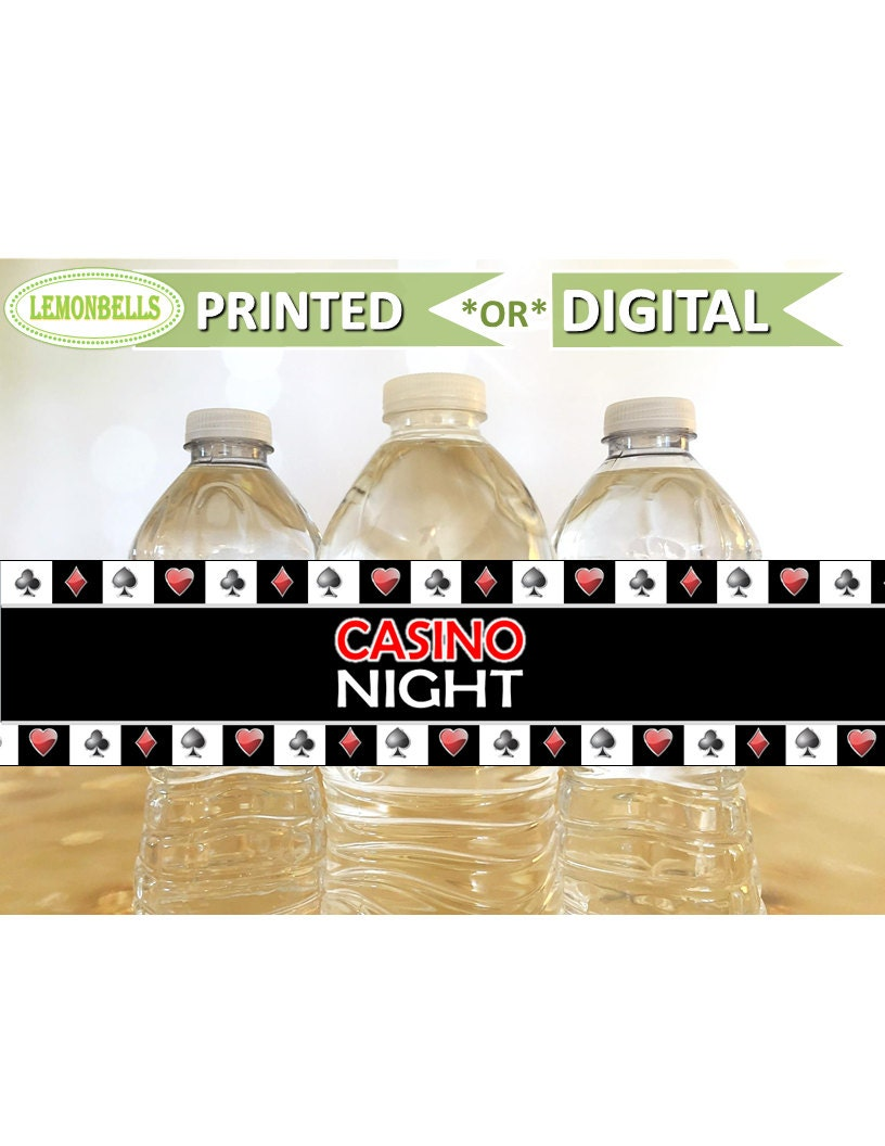 Casino Water Bottle Labels Vegas Water Bottle Labels Cards